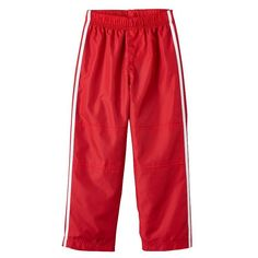 Toddler Boy French Toast Track Pants, Size: 2T, Red