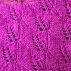 Tiled knitting stitches