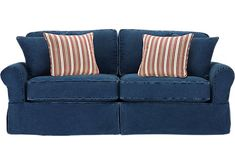 Shop for a Cindy Crawford Home Beachside Blue Denim Sofa at Rooms To Go. Find iSOFA Hidden that will look great in your home and complement the rest of your furniture.
