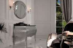 Topex Armadi Art Silver & Black Allegro Vanity From Our Classic Collection Of European Manufactured Bath Furniture!