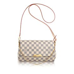 Favorite MM +Damier Azur Canvas - Handbags | LOUIS VUITTON