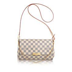 Favorite MM +Damier Azur Canvas - Handbags | LOUIS VUITTON