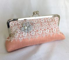 Ready to Ship THE ANTIQUE CLUTCH  lace by franklymydearvintage
