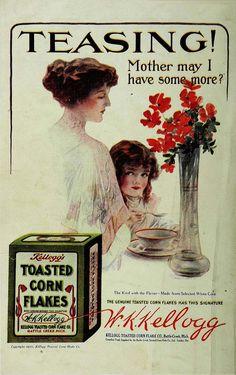 FOOD, CEREAL: Kellogg Toasted Cornflake Company | Source: Good Housekeeping, Vol. 51, No. 2, October 1910.