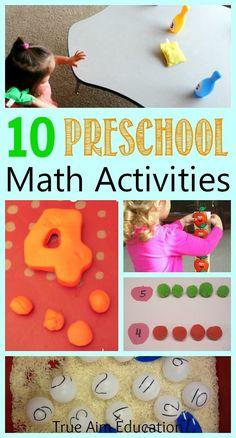 10 Unique Preschool Math Activities | True Aim - Christian Parenting and Education