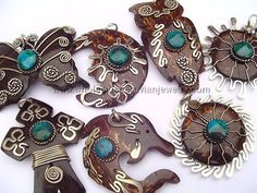 Assorted Coconut Pendantshttp://www.wholesaleperuvianjewelry.com