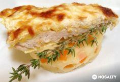 Füstölt sajtos csirkemell krumplipürén | NOSALTY