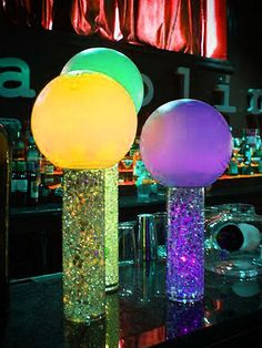 Create dazzling centerpieces, flower vases and table accents with our Clear Acrylic Crystals. Embellish your decorations and ambiance with our dazzling party supplies and craft accessories. Glow In Dark Party, Glow Party, Disco Party, 70s Party, Neon Party Decorations, Party Centerpieces, Birthday Decorations, Glow Stick Jars, Glow Sticks