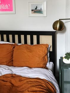 You don't have to be crafty to upgrade IKEA's Hemnes bed frame. This impressive hack can be done in just 10 minutes. Ikea Hemnes Bed, Ikea Bed Hack, Ikea Hacks, Brimnes, Cheap Bedroom Decor, Cheap Home Decor, Ikea Headboard, Ikea Bedroom, Cama Ikea