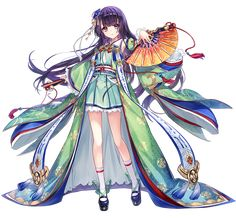 Anime Girl Kimono, Anime Dress, Anime Elf, Anime Chibi, Anime Fantasy, Fantasy Girl, Yukata, Kawaii Anime Girl, Anime Art Girl