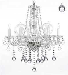 Crystal Chandelier Lighting With Balls H25 X W24