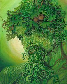 Homme vert forêt de Pagan Dieu Cernunnos 8 x 10 par EmilyBalivet