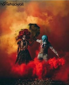 Here is Butch Locsin, aka Skeleton of color, an American performer who stages his masked character in explosive and ultra-colorful photographs! By mixing his Smoke Bomb Photography, Color Photography, Creative Photography, Rauch Fotografie, Smoke Pictures, Colored Smoke, Smoke Art, Skull Art, Street Art