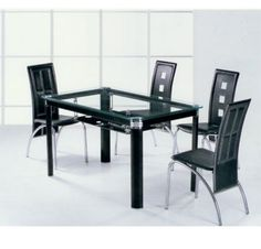 Colorful Glass Top Dining Table #5133
