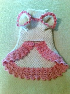 Dog dress dog clothing pet sweater MADE TO ORDER by popelkaLida, $37.00