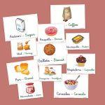 fichas de vocabulario Vocabulary Cards, Reggio Emilia, Learn English, Homeschool, Cooking Recipes, Teaching, Breakfast, Food, Angles