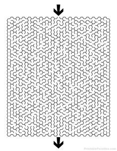 Print Free Hexagon Maze with Hard Difficulty. Difficult Hexagon Maze with Solution. Maze Puzzles, Word Puzzles, Maze Worksheet, Worksheets For Kids, Hard Mazes, Hidden Pictures Printables, Printable Mazes, Mazes For Kids, Bell Work