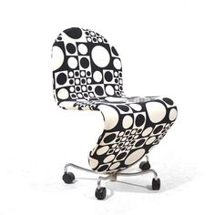 1-2-3 System Office Chair by Verner Panton, 1970s 4