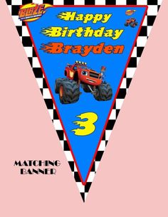 Blaze y el monstruo de las máquinas, Invitaciones, Cumpleaños,