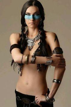 Love the warrior make up.