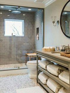 4 Tenacious Clever Ideas: Small Bathroom Remodel Brown bathroom remodel cabinets tips.Bathroom Remodel On A Budget Blue bathroom remodel design gray cabinets.Bathroom Remodel On A Budget Green. House Bathroom, Bathroom Inspiration, Coastal Interiors, Small Bathroom, Bathrooms Remodel, Bathroom Decor, Home, Bathroom Design, Tile Bathroom