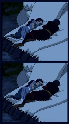 Prince Zuko and Katara sleeping together on Appa from Avatar The Last Airbender Avatar Aang, Zuko And Katara, Avatar Legend Of Aang, Team Avatar, Legend Of Korra, Ang And Katara, Avatar Cartoon, Avatar Funny, The Last Avatar