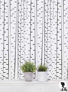 Birch Tree Removable Wallpaper Tree Pattern Wall by LivettesKIDS