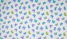 Jersey Fabric Cotton Print Butterfly White | Empress Mills Ltd.