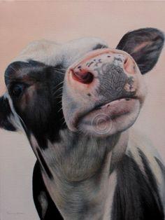 SAM DOLMAN ORIGINAL Cow Oil Painting by sdolman on Etsy, $495.00
