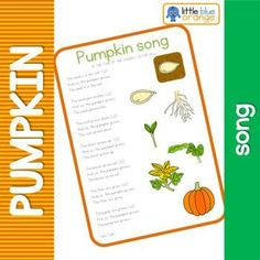 Pumpkin Song, Pumpkin Books, A Pumpkin, Pumpkin Life Cycle, Planting Pumpkins, Finger Plays, Step Kids, Science Lessons, Life Cycles