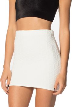 Black Milk Clothing Chic Skirt White Bodycon s Pencil Mini Textured Museum RARE Black Milk Clothing, White Skirts, Mini Skirts, Style Wish, My Style, High Waisted Skater Skirt, Types Of Fashion Styles, Fashion Outfits, Clothes For Women