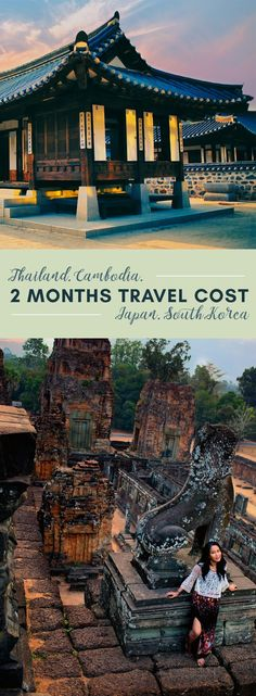 How much does it cost to travel Southeast Asia, Japan and South Korea for 2 months?