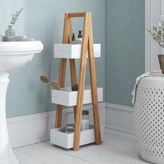 Chaput 30 x Bathroom Shelf Hashtag Home Cube Shelves, Basket Shelves, Wooden Shelves, Storage Shelves, Free Standing Cabinets, Standing Shelves, Bathroom Standing Shelf, Bathroom Shelving Unit, Cabinet Shelving