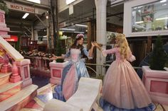 Barbie's Princess The Pauper float on Preview Day at Macy's Studios in Hoboken NJ prior to the 2004 Macy's Thanksgiving Day Parade Photo by Virginia...