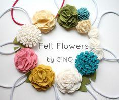 Felt Flowers : DIY felt flowers - easy layered flower tutorial