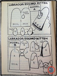 Mitten patterns for homemade mittens. From Wildwood Wisdom by Ellsworth Jaeger Loom Knitting Patterns, Knitting Stitches, Sewing Patterns, Knitting Tutorials, Hat Patterns, Free Knitting, Stitch Patterns, Sock Knitting, Knitting Machine