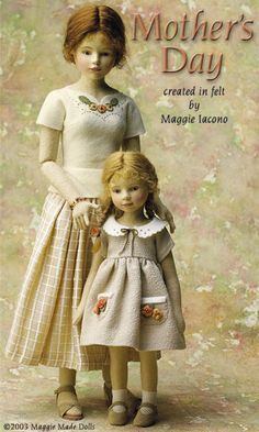 Mother's Day 18.5 Inch Tall Felt Doll Edition Size: 70 Created in 2003