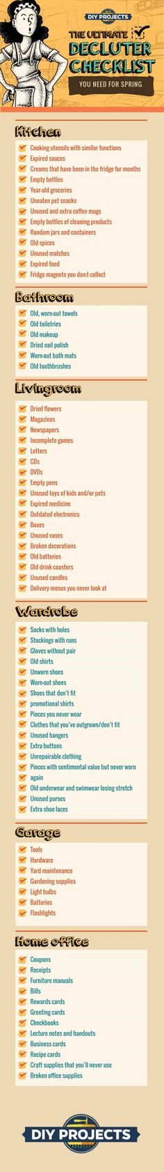 Checklist | 10 Essential Cleaning Checklist Items for Spring | DIY Projects