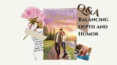 Author Janine Rosche answers the question: How do you balance depth and humor in your stories? #madisonriverromance #janinerosche #wildflowerroad #lovewanderread #meetmeinmontana Flower Road, Montana, Wild Flowers, Romance, Author, River, This Or That Questions, Reading, Inspiration