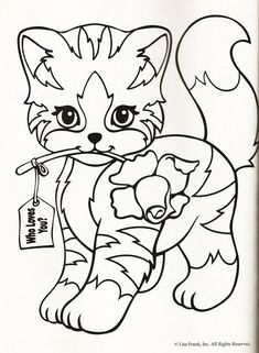 Lisa Frank coloring pages Animals Pets Pinteres