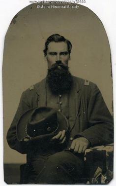Isaac A. Pennell, New Portland, ca. 1863. A captain in Co. A of the 16th Maine Infantry Regiment, Isaac A. Pennell of New Portland enlisted on July 30, 1862, when he was 27 years old. Item # 59883 on Maine Memory Network
