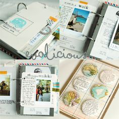 Mini travel album with polaroids