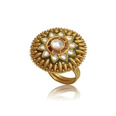 Traditional Indian Finger Ring Malabar Gold