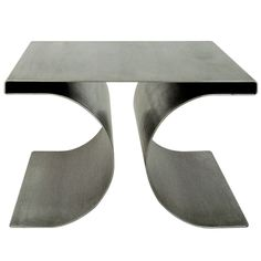 Single X Stool by Michel Boyer in Stainless Steel