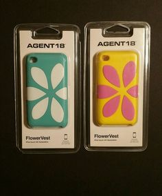 Agent 18 FlowerVest Apple Ipod Touch 4 4TH Gen Case Silicone Blue or Yellow #AGENT18