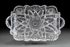Brunswick Stars and Hobstars Cut Glass Tray Glass Tray, Cut Glass, Clear Glass, Crystal Illustration, Glass Etching, Etched Glass, Engraving Art, Crystal Glassware, Crystal Meanings