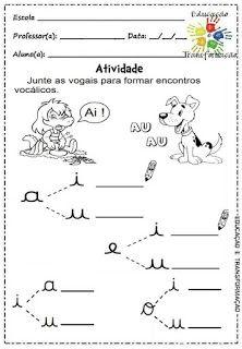Atividades Para Jardim Vogais E Encontros Vocalicos Atividade