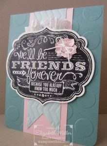 Stampin Up Friends Who Know stamp set card