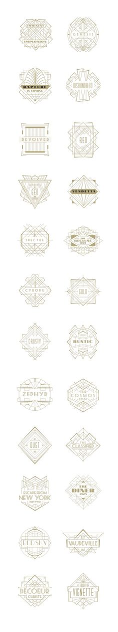 Typography  Art Deco Badges on Behance    www.lab333.com www.facebook.com/ www.lab333styl