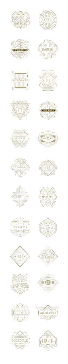 All gorgeous. Art Deco Badges